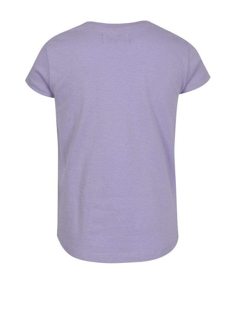 Fialové dievčenské tričko s magickými flitrami 5.10.15.