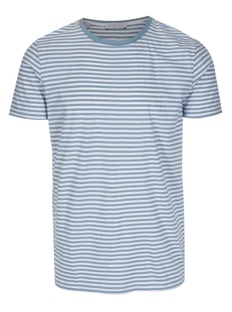 Tricou cu dungi albastru & alb din bumbac - Selected Homme Max