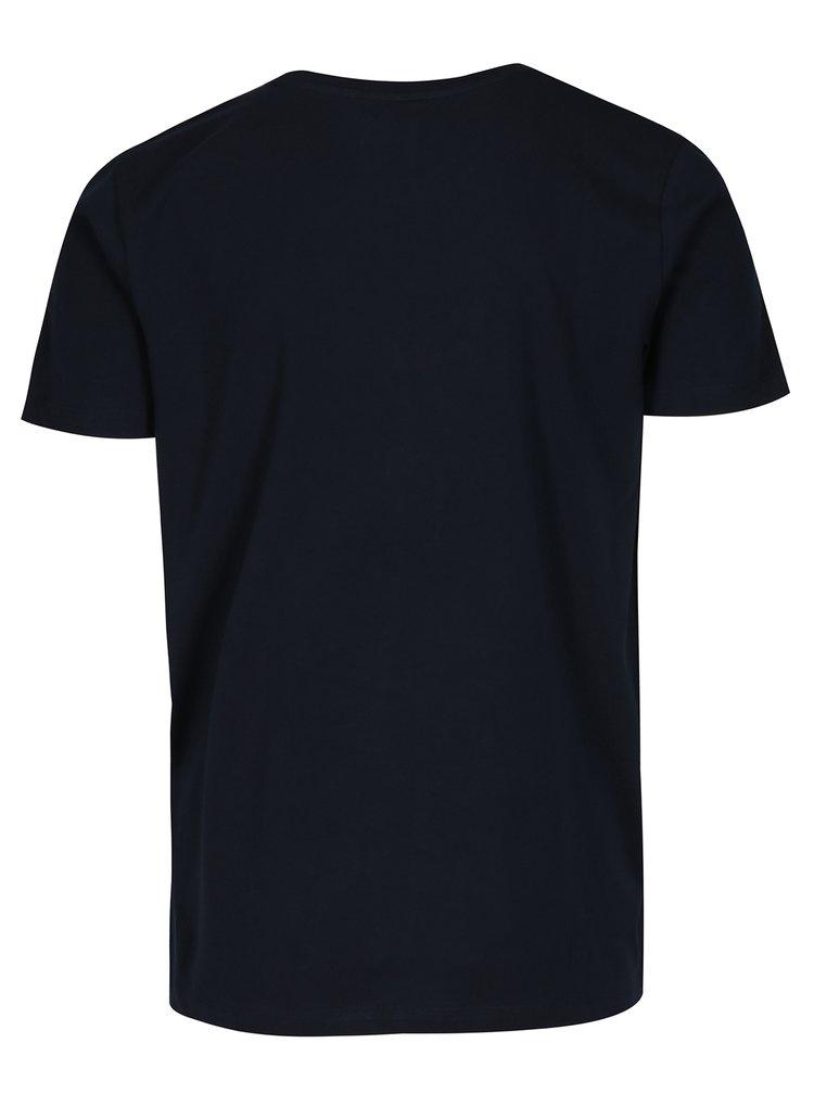 Tmavě modré tričko s potiskem Selected Homme Mike