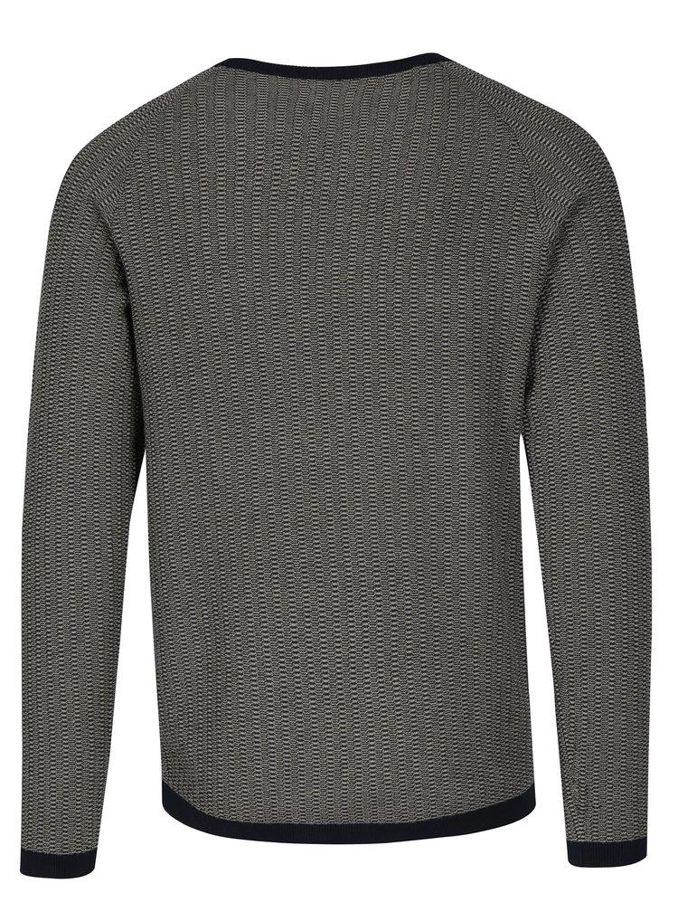 Tmavě modrý svetr s drobným vzorem Selected Homme Lambert