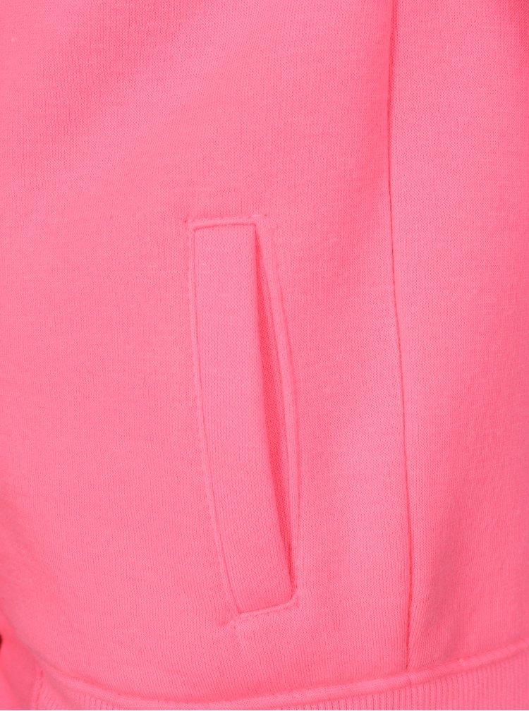 Šedo-růžová holčičí mikina s nášivkou 5.10.15.
