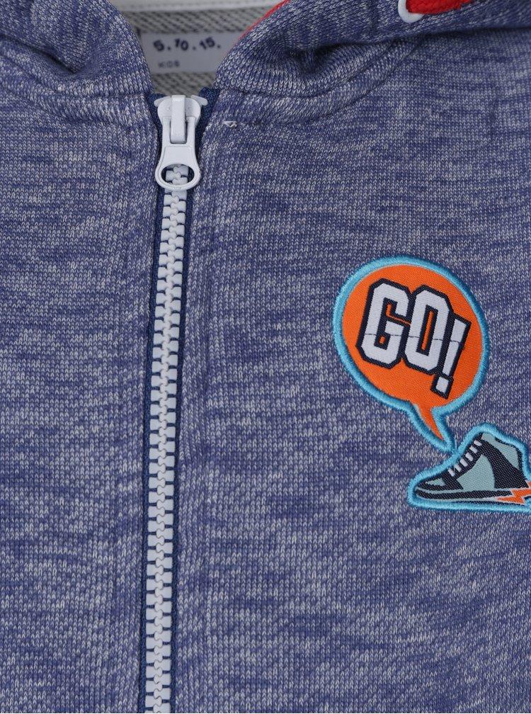 Modrá klučičí žíhaná mikina s kapucí 5.10.15.