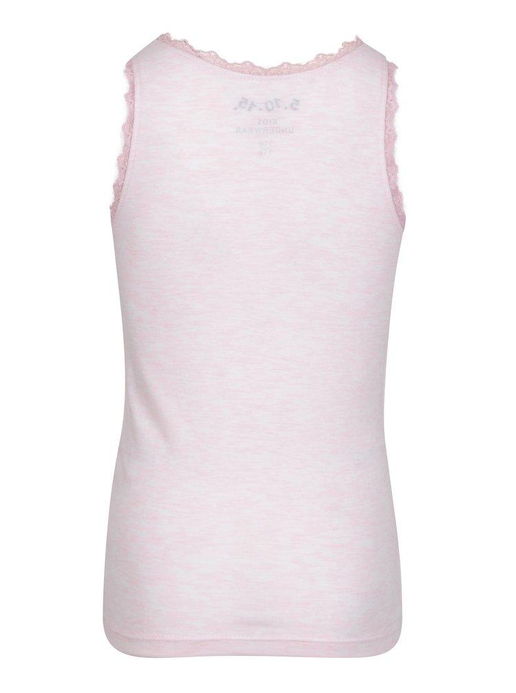 Růžové holčičí tílko s krajkou 5.10.15.