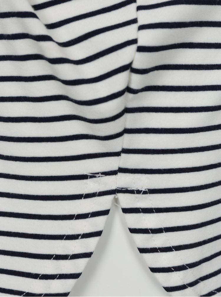 Krémové holčičí pruhované šaty s flitry name it Haily