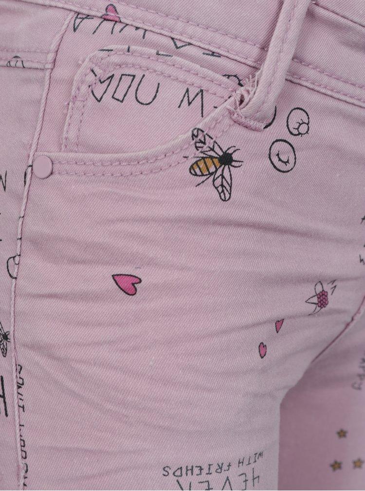 Světle fialové holčičí skinny džíny s potiskem name it Polly