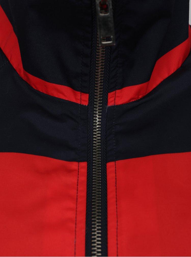 Červeno-modrá pruhovaná bunda Noisy May Ariel