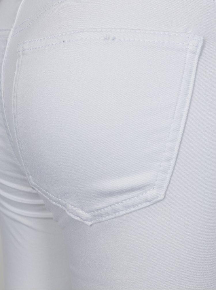 Bílé super slim džíny s nízkým pasem Noisy May Eve