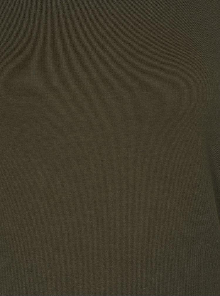 Khaki šaty s krátkým rukávem Noisy May Summer