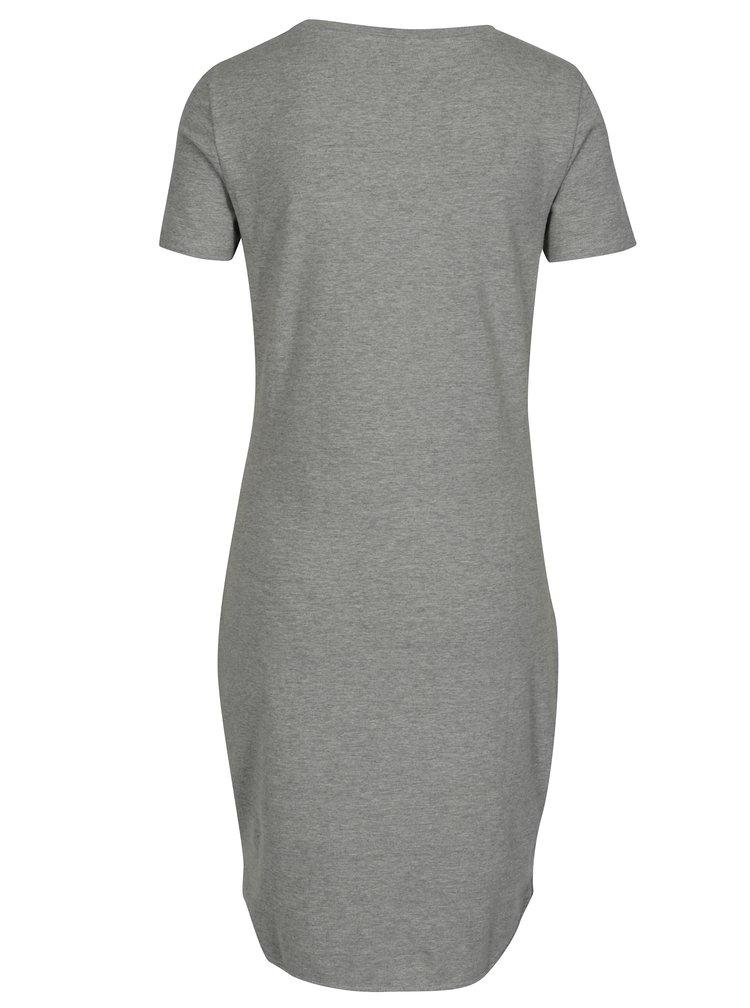 Šedé šaty s krátkým rukávem Noisy May Summer