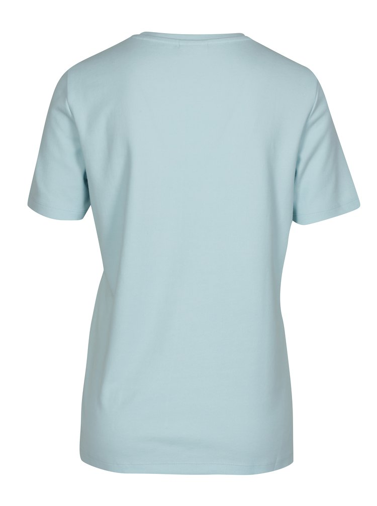 Tricou bleu cu nod asimetric Noisy May Lock