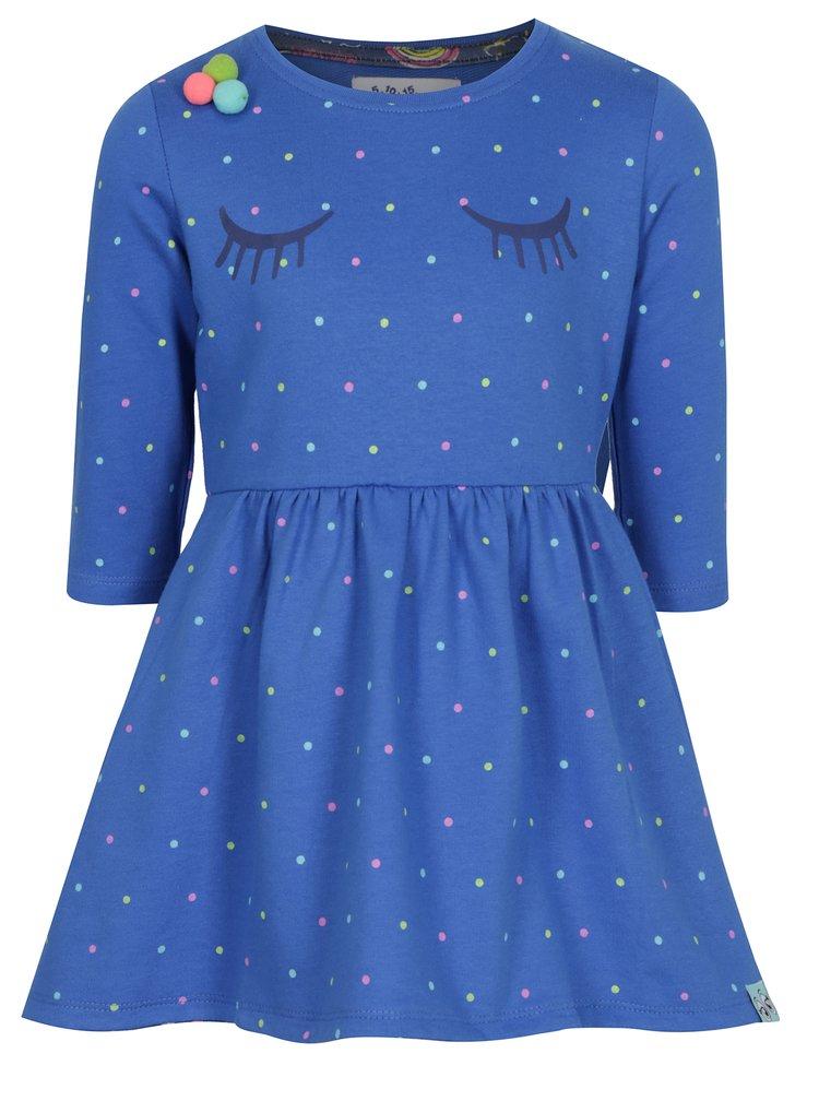 Modré holčičí vzorované šaty 5.10.15.