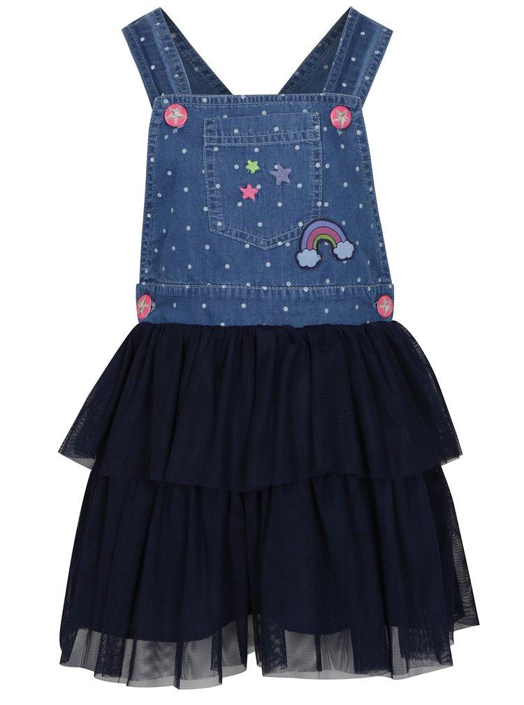 Tmavě modré holčičí šaty s laclem 5.10.15.