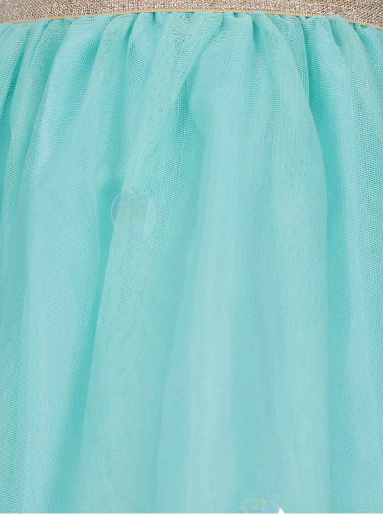 Tyrkysová holčičí sukně 5.10.15.