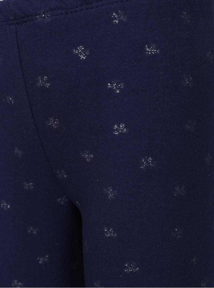 Tmavě modré holčičí vzorované legíny 5.10.15.