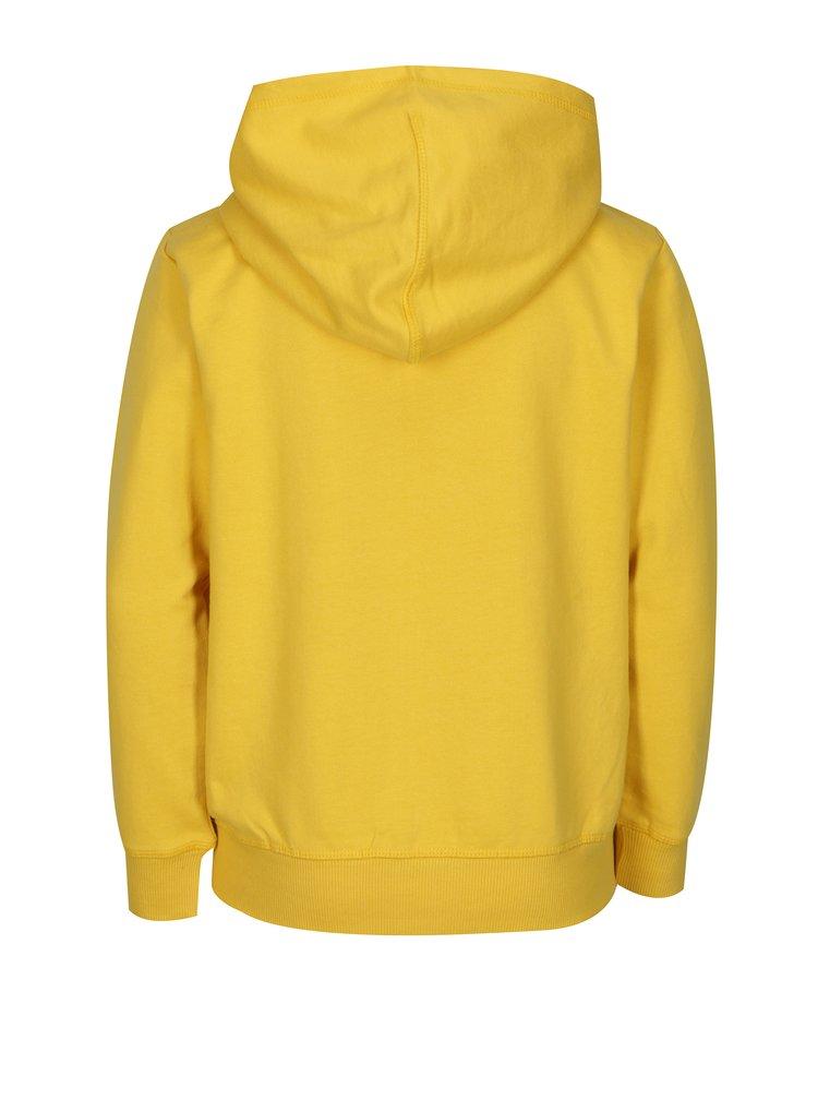 Žlutá klučičí mikina s kapucí 5.10.15.