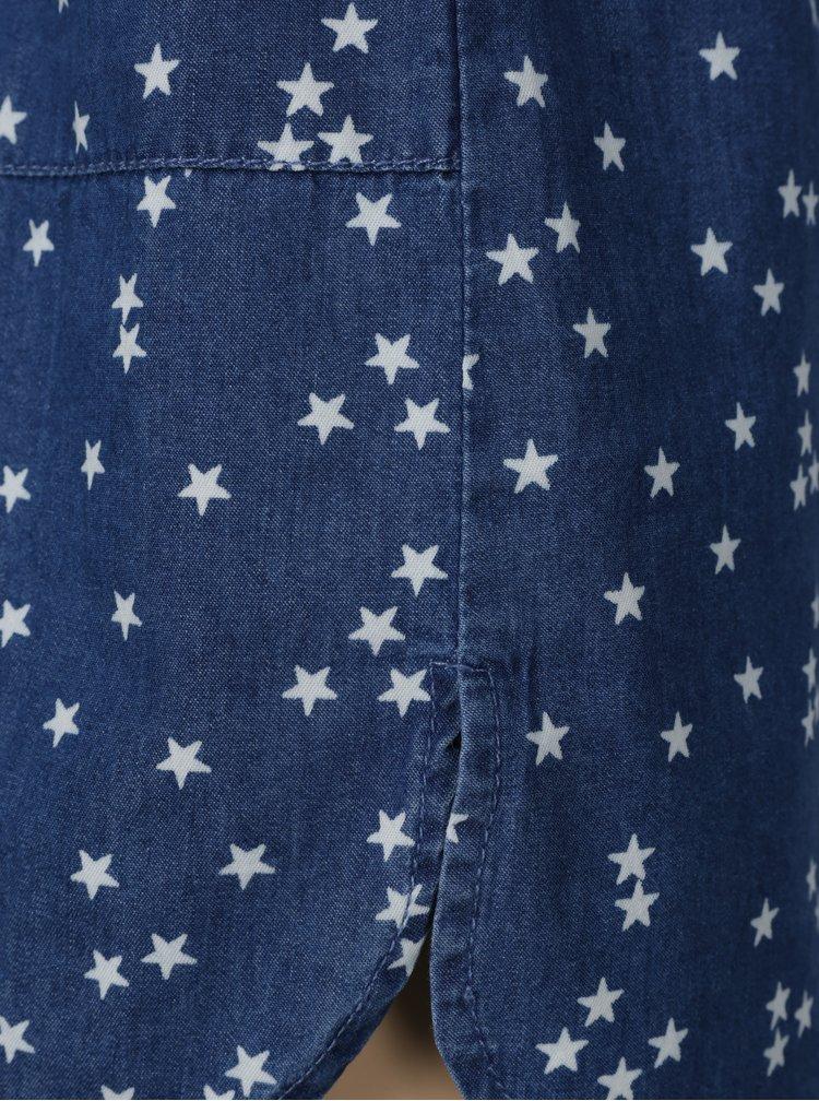 Modré vzorované košilové šaty 5.10.15.