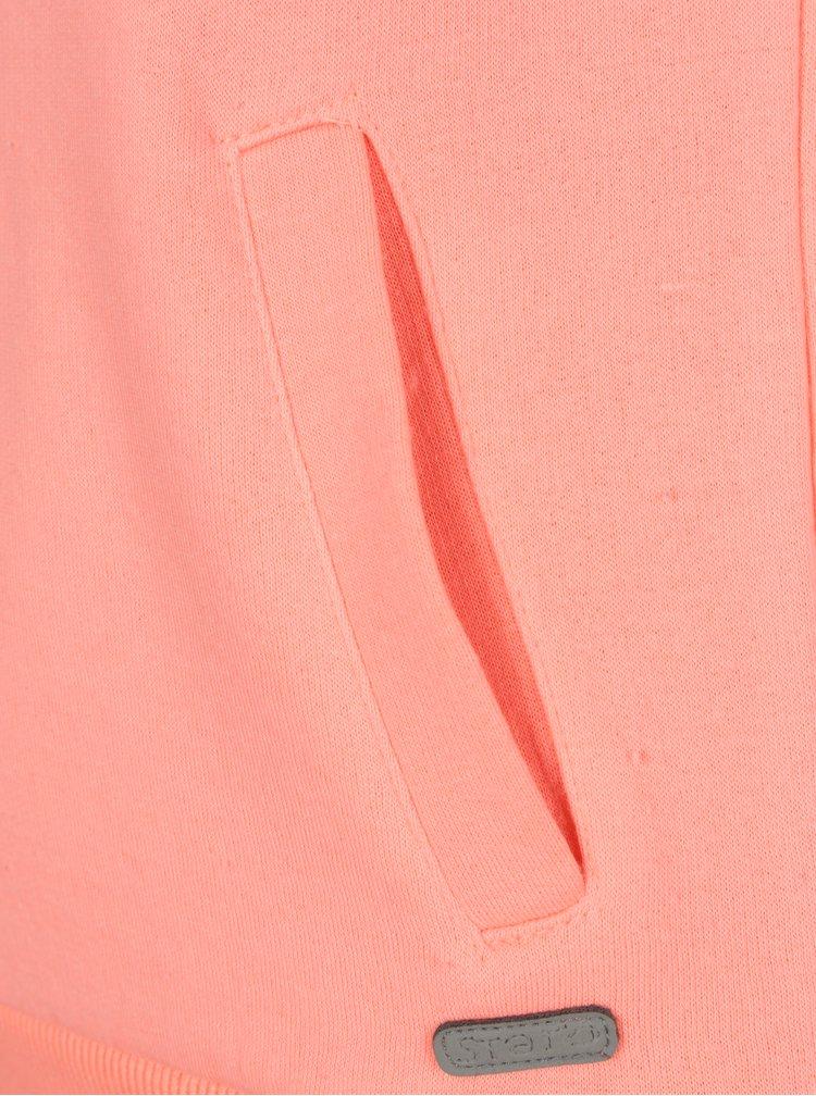 Oranžová holčičí mikina s vysokým límcem 5.10.15.