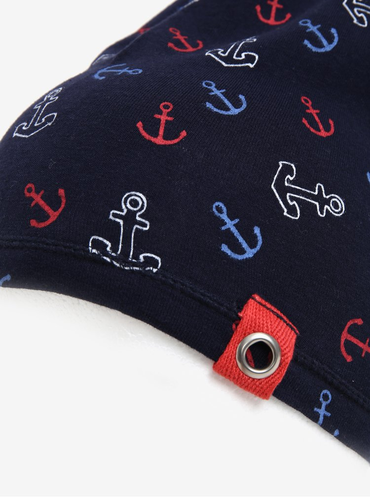 Tmavě modrá klučičí čepice s motivem kotev 5.10.15.