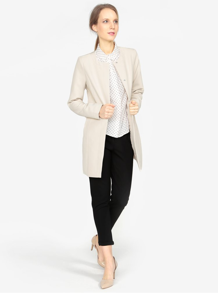 Krémový kabát VERO MODA Cannes