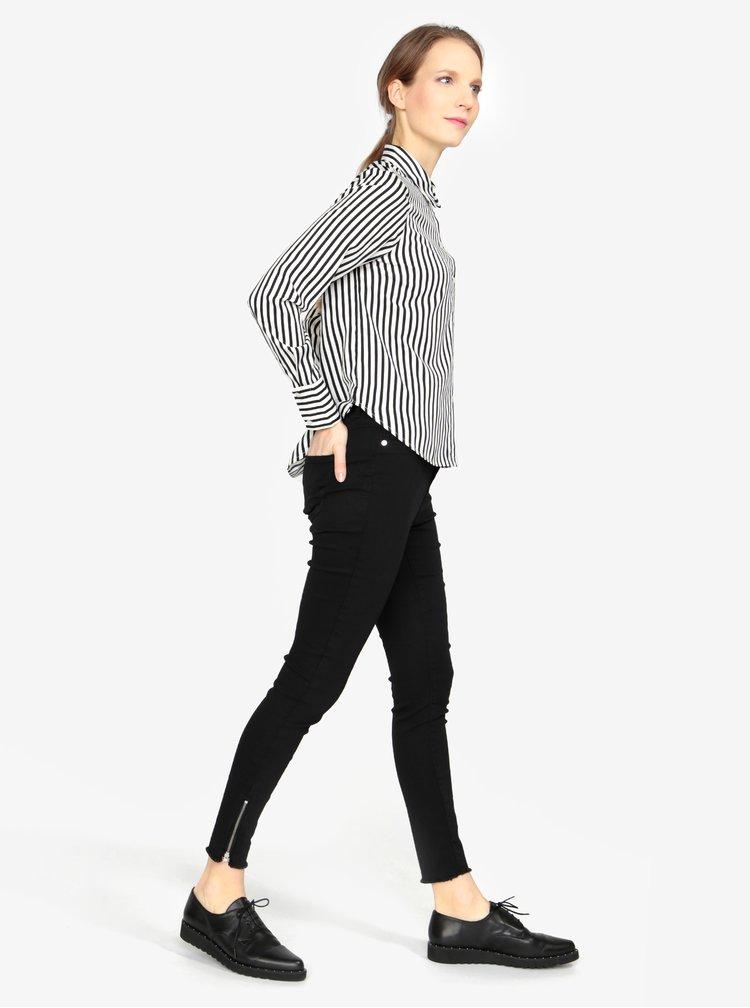 Krémovo-černá pruhovaná košile VERO MODA Nicky