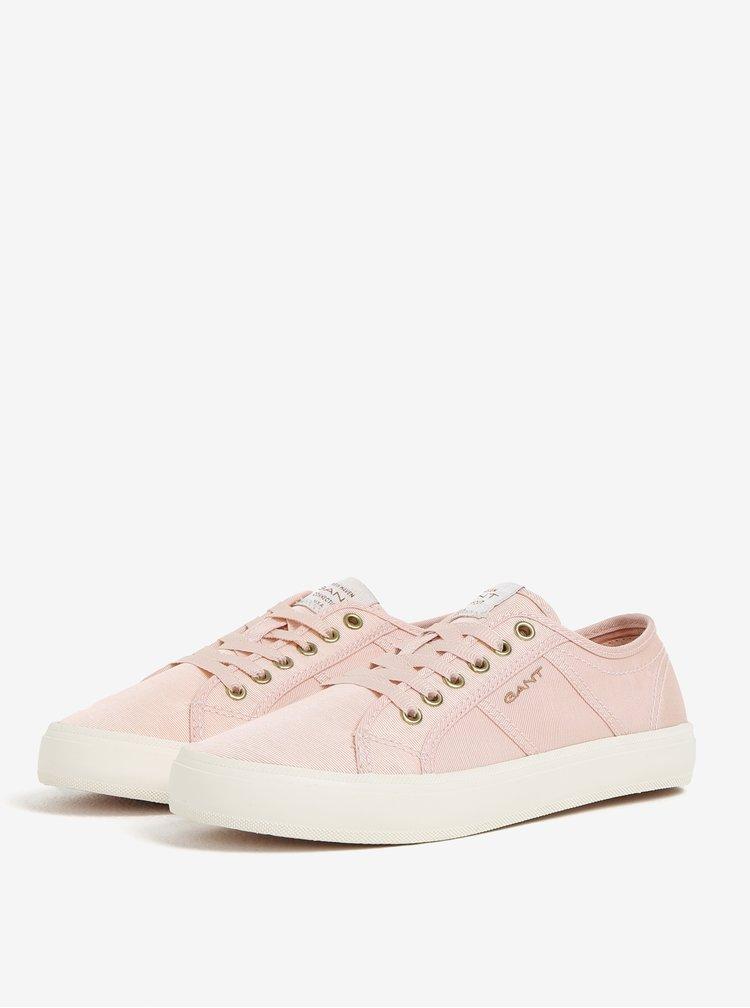 Světle růžové dámské tenisky GANT Zoe