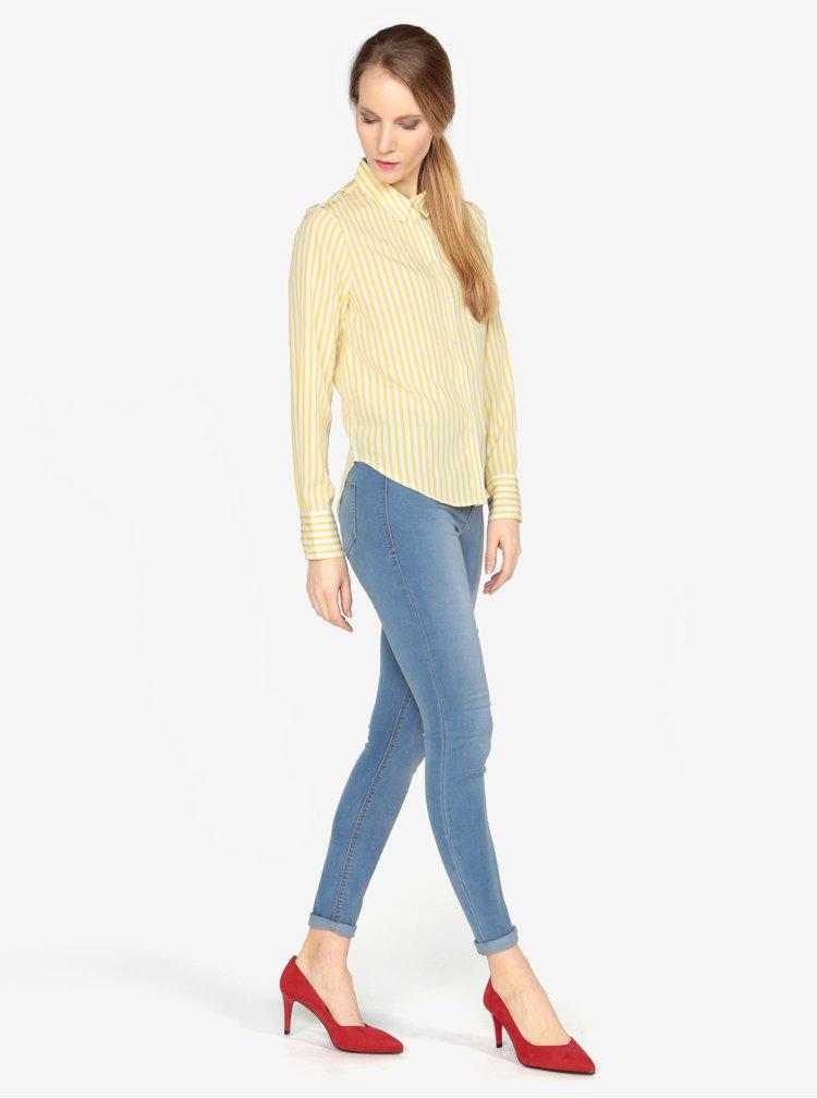 Krémovo-žlutá pruhovaná košile VERO MODA Nicky