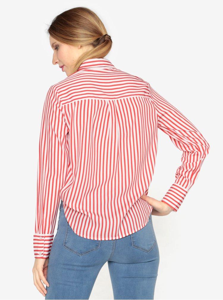 Krémovo-červená pruhovaná košile VERO MODA Nicky