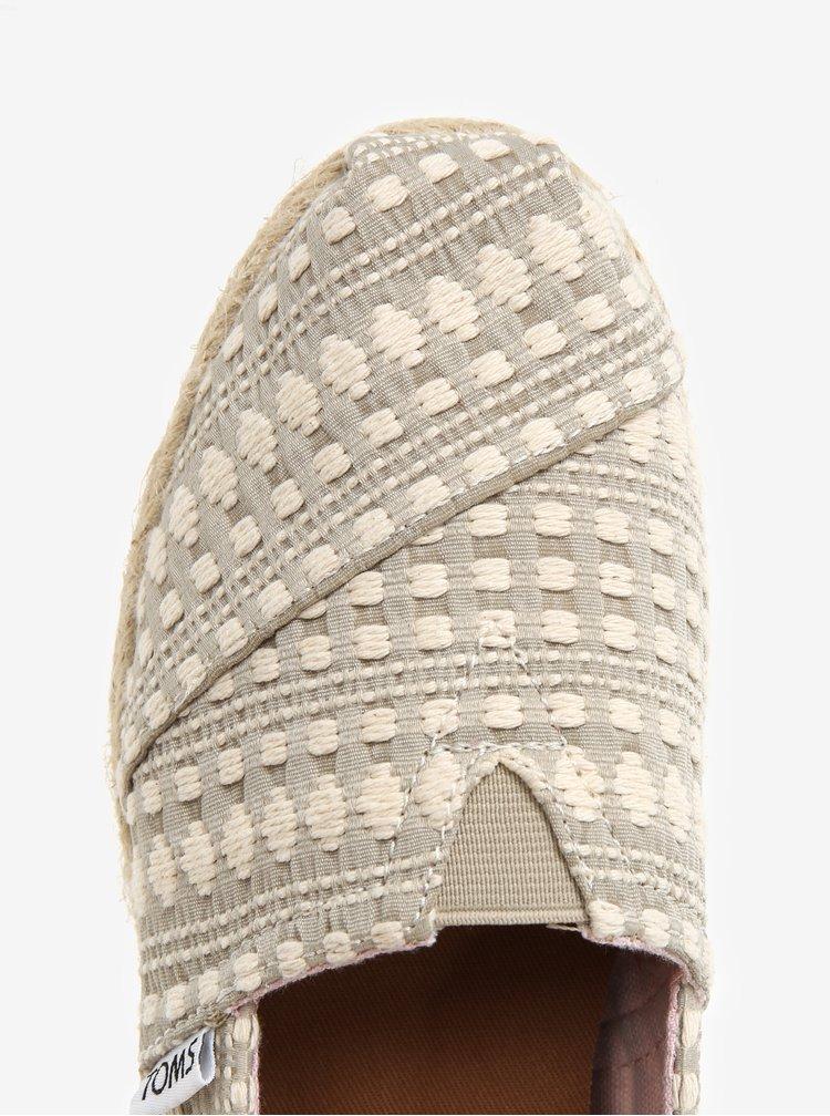 Krémovo-šedé dámské vzorované espadrilky TOMS