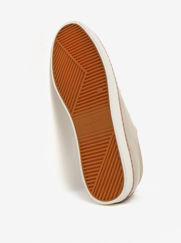 Béžové pánské tenisky s koženými detaily GANT Bari