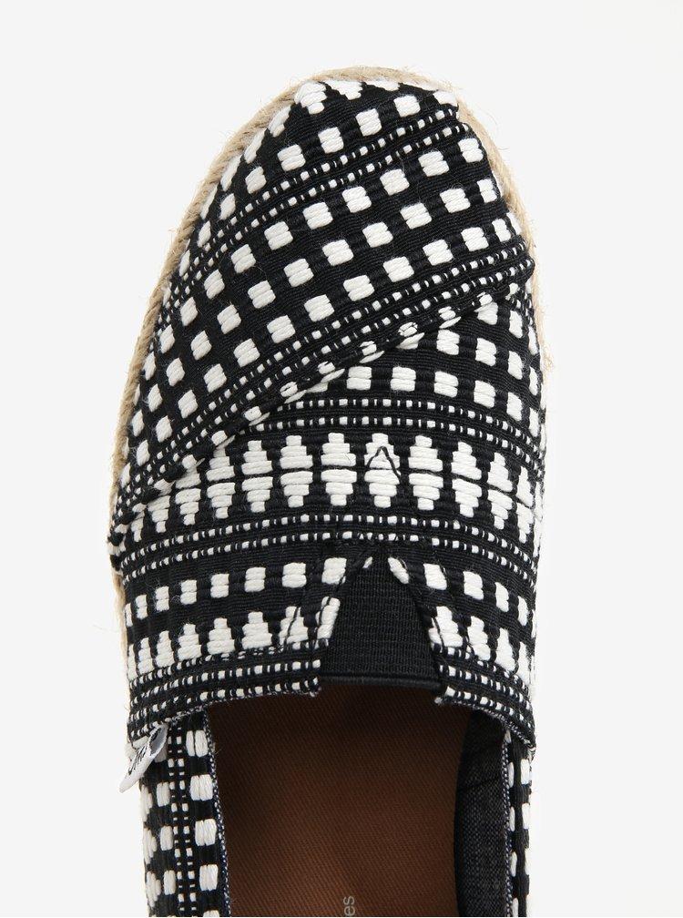Krémovo-černé dámské vzorované espadrilky TOMS