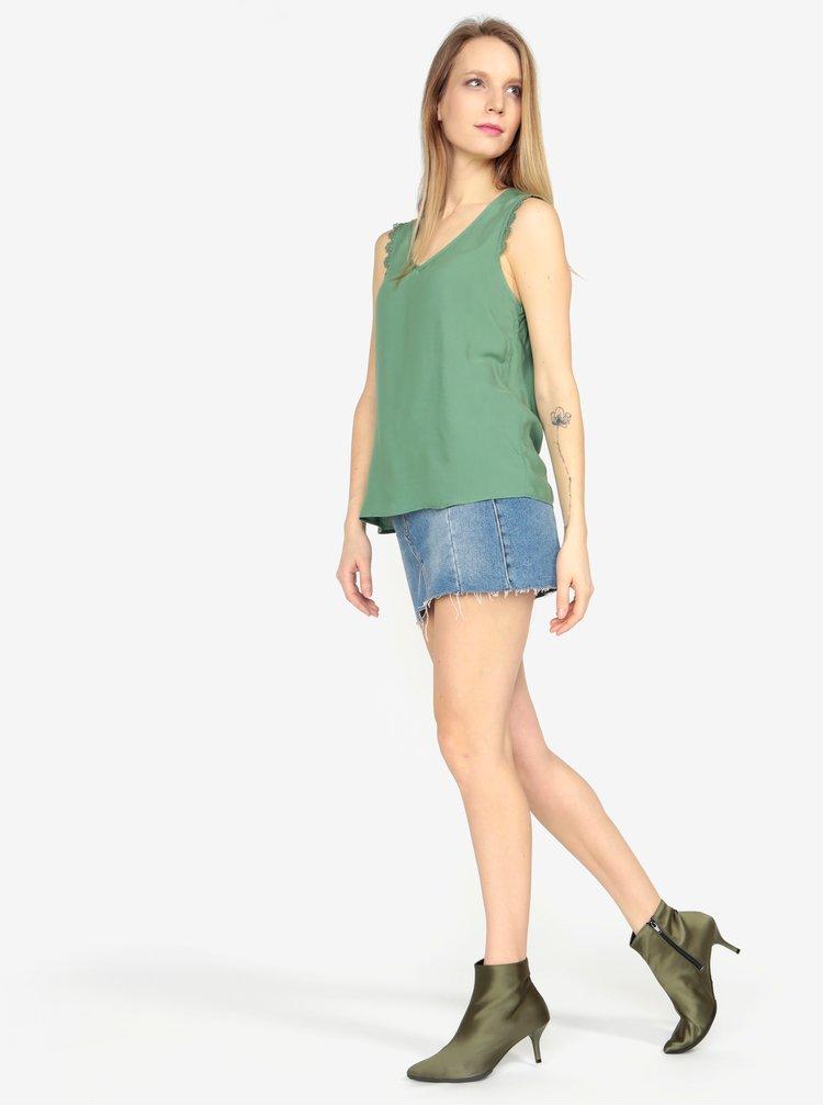 Zelená halenka s krajkou VERO MODA Lacey