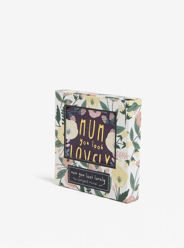 Fialové kompaktní zrcátko s nápisem CGB Mum You Look lovely