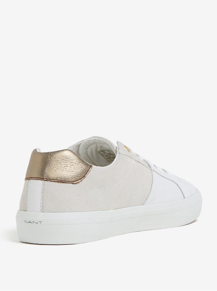 Bílé dámské kožené tenisky GANT Mary