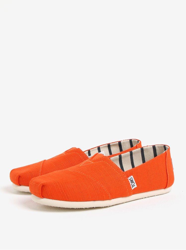 Oranžové dámské slip on TOMS