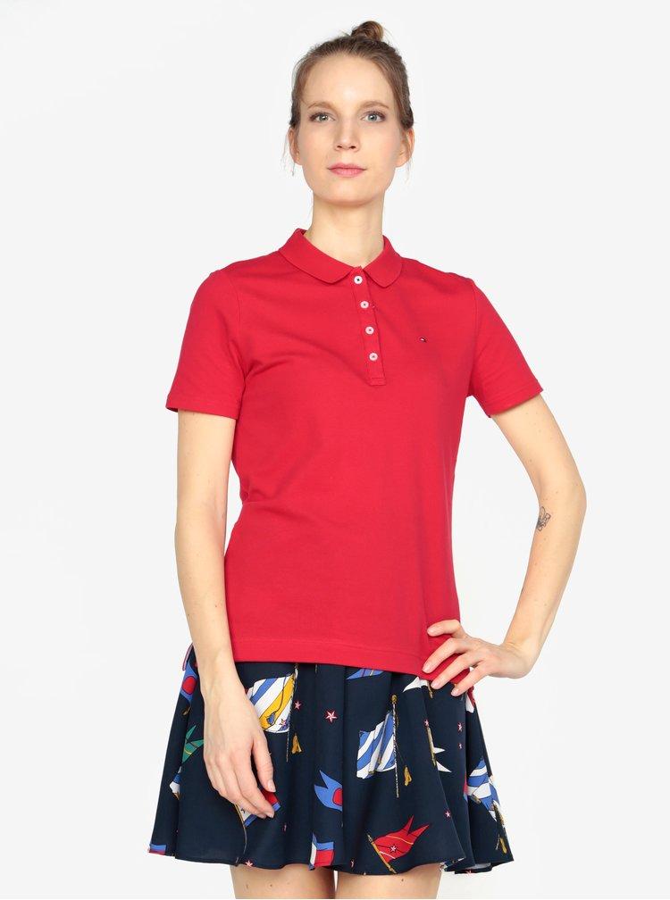 Tmavě červené polo tričko Tommy Hilfiger