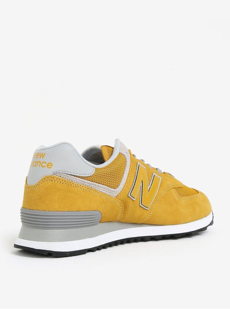Žluté pánské semišové tenisky New Balance ML574