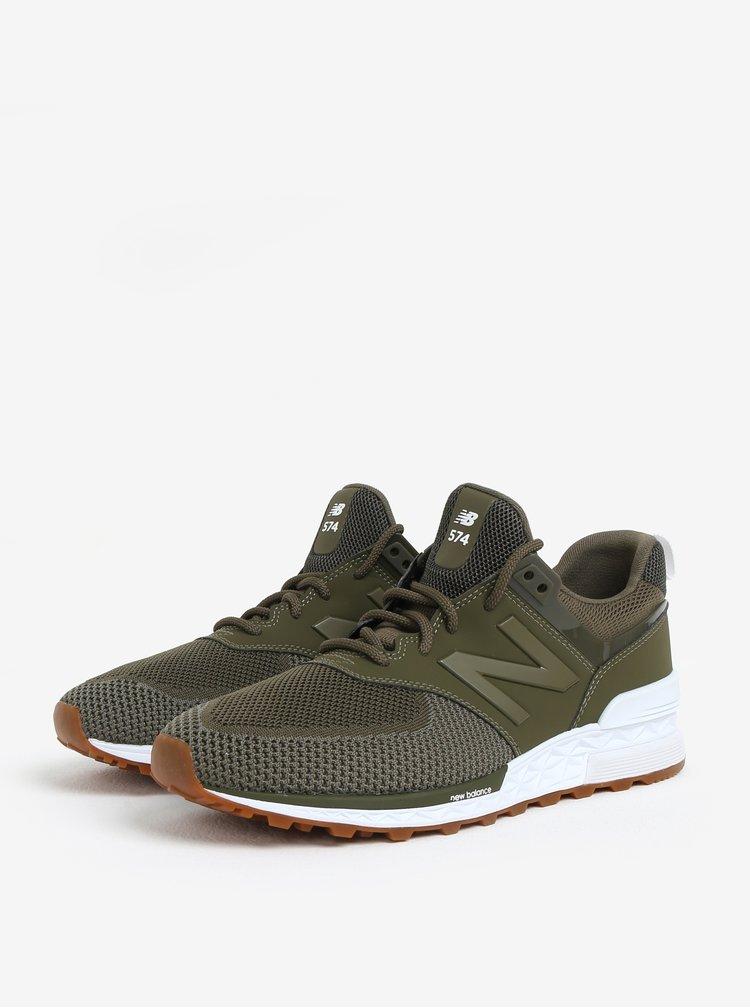 Pantofi sport kaki cu insertii de plasa pentru barbati - New Balance MS574