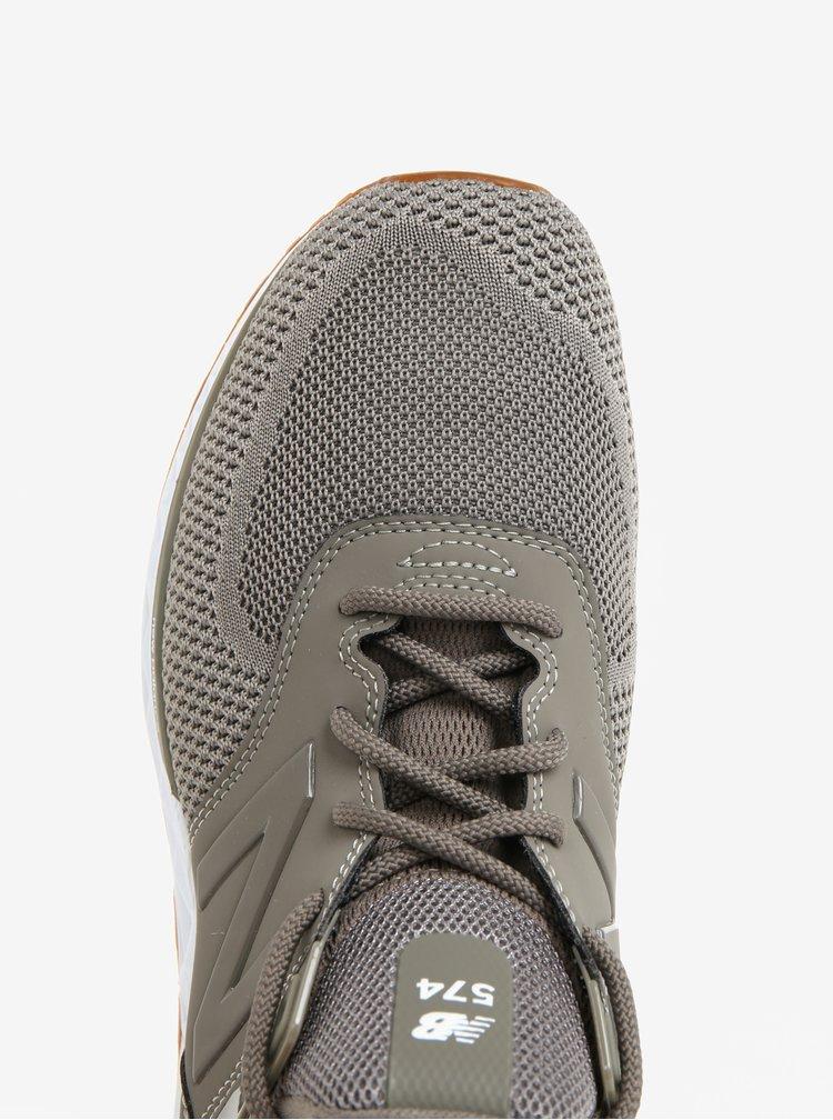 Šedozelené pánské tenisky New Balance MS574