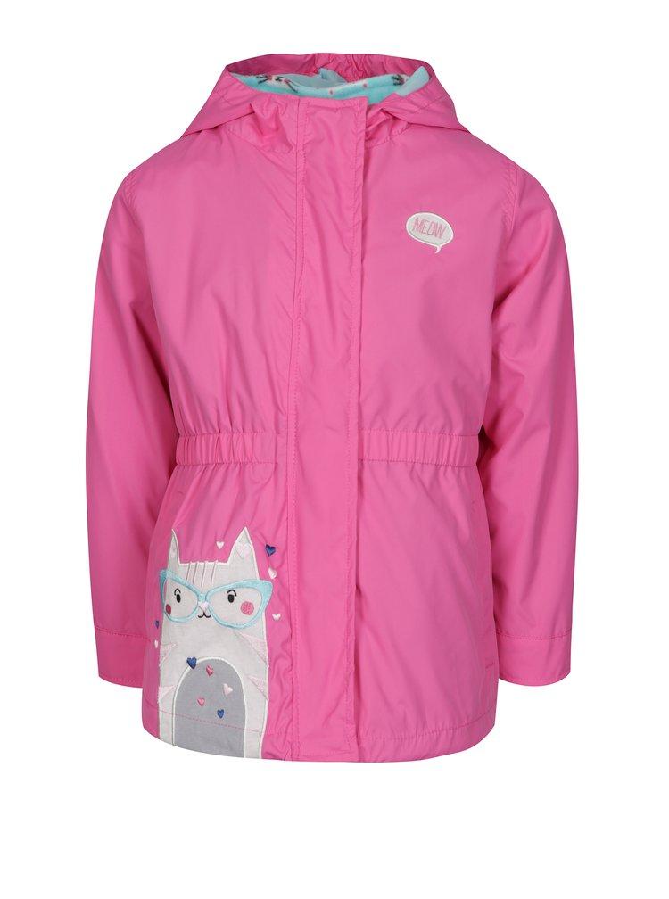 Modro-růžová holčičí voděodolná bunda s odepínatelnou mikinou 2v1  5.10.15.