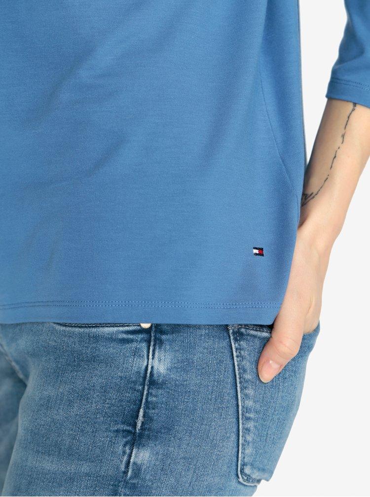 Modré tričko s 3/4 rukávem Tommy Hilfiger