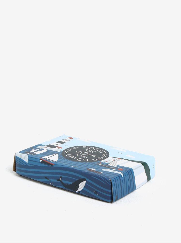 Světle modrá miska ve tvaru velryby CGB