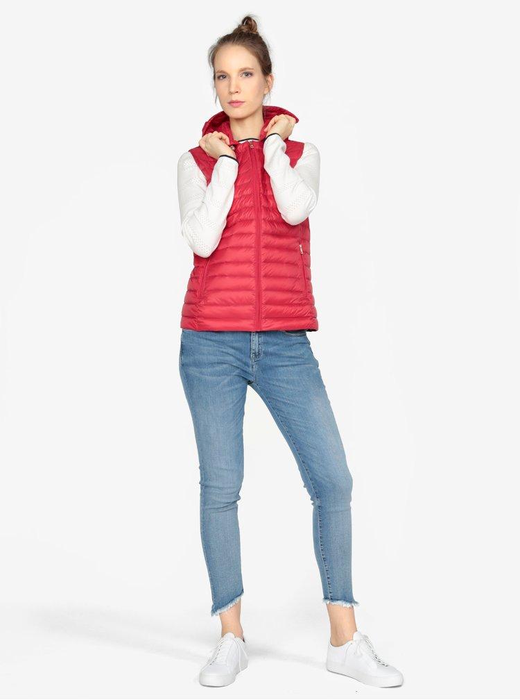 Červená prošívaná vesta Tommy Hilfiger