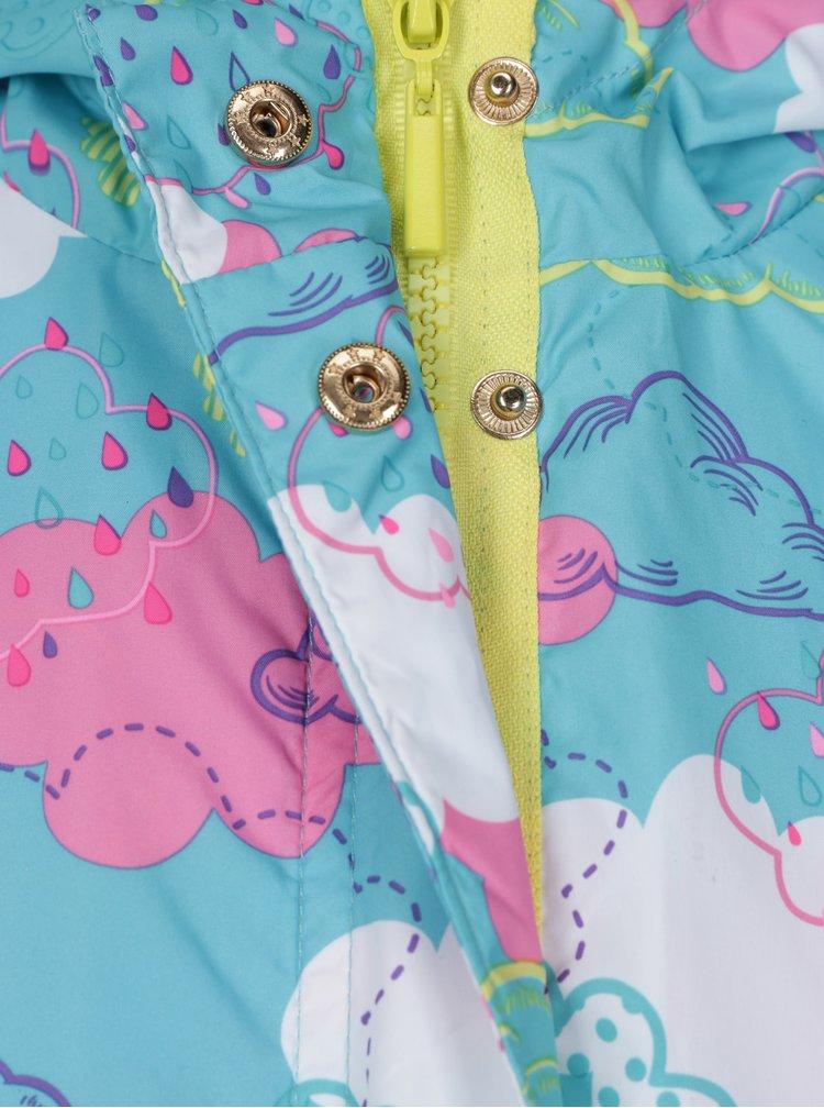 Šedo-modrá holčičí voděodolná bunda s odepínatelnou mikinou 2v1  5.10.15.
