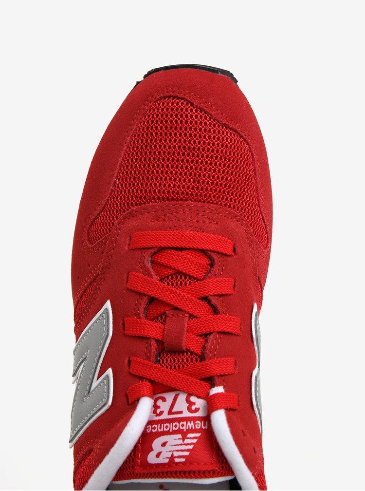 Červené pánské semišové tenisky New Balance ML373