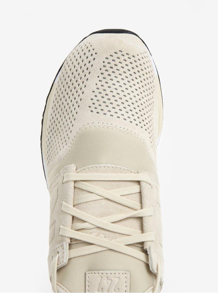 Krémové pánské semišové tenisky New Balance MRL247