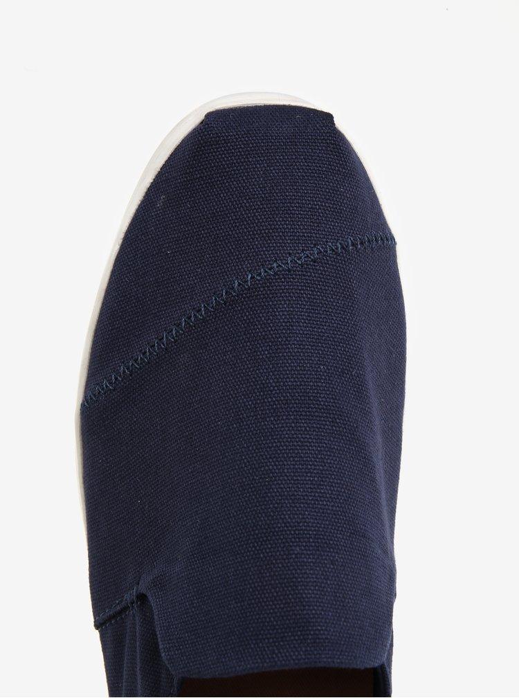 Tmavě modré pánské slip on TOMS