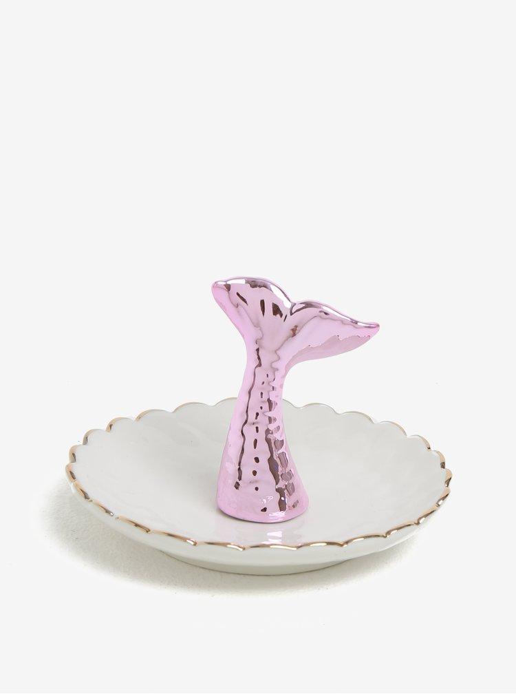 Krémový talířek na šperky s ploutví mořské pany CGB