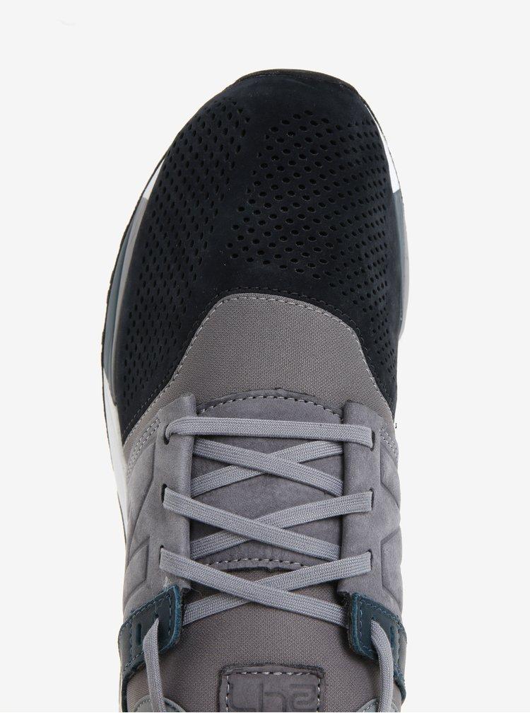 Černo-šedé pánské semišové tenisky New Balance MRL247