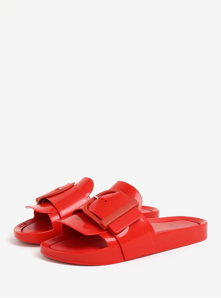 Červené šľapky s prackou Melissa Beach Slide