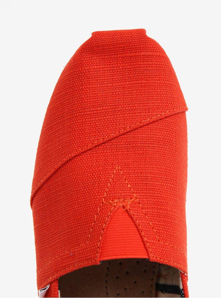 Oranžové pánské espadrilky TOMS